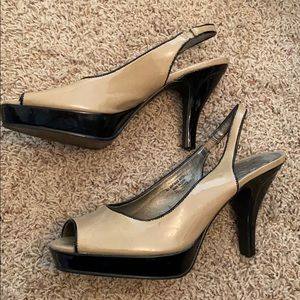 Unlisted Patent Leather Slingback Heels
